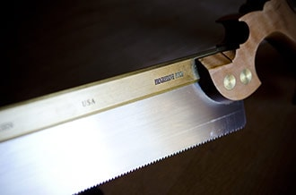 Lie-Nielsen brass back dovetail back saw with rip teeth