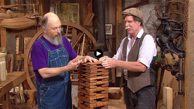 Video Player: Bill Anderson teaches how to use hollows & rounds molding planes on the Woodwright's Shop with Roy Underhill