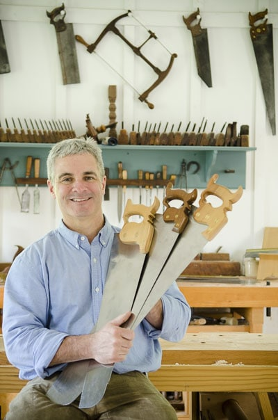 Tom Calisto Traditional Hand Saw Maker in Wood And Shop Workshop