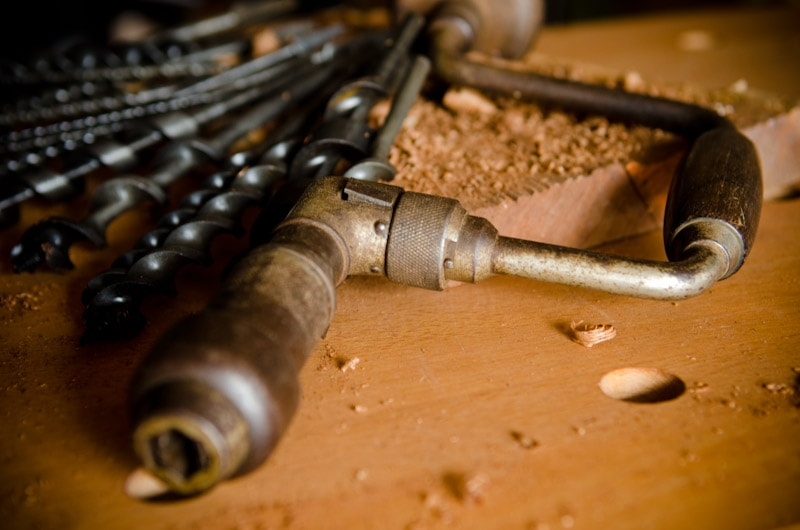 Antique hand brace drill