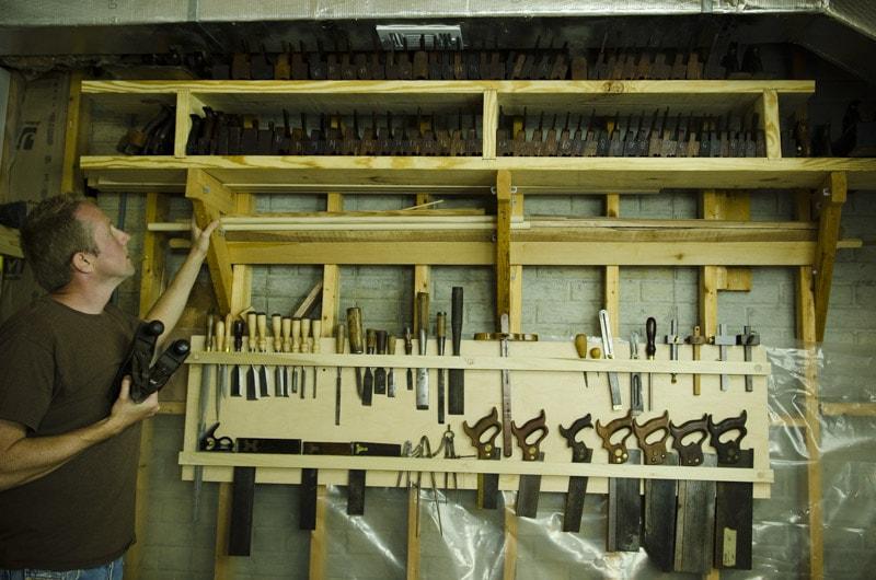hand tool storage board till