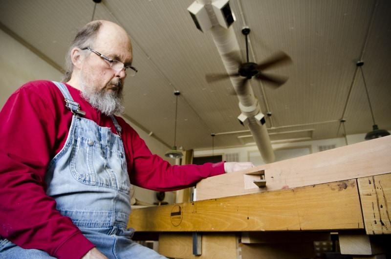 Bill Anderson building a hand plane