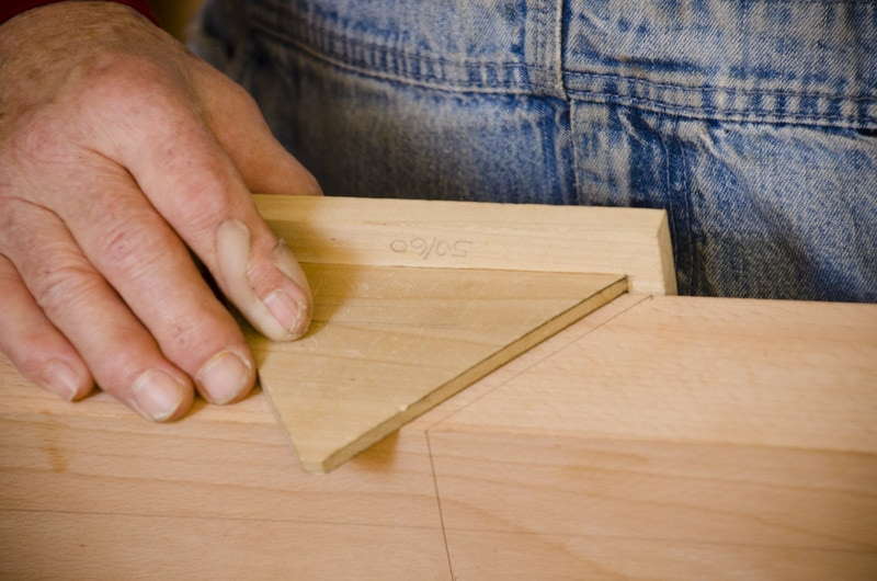 Bill Anderson building a hand plane angle gauge