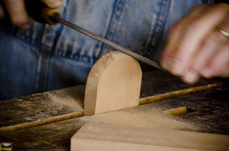 Bill Anderson building a hand plane rasp