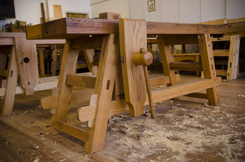 The Portable Moravian Workbench at The Woodwright's School | Wood and ...