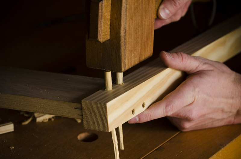 how to make pegs for drawboring mortise and tenon joints {part 11 of ...