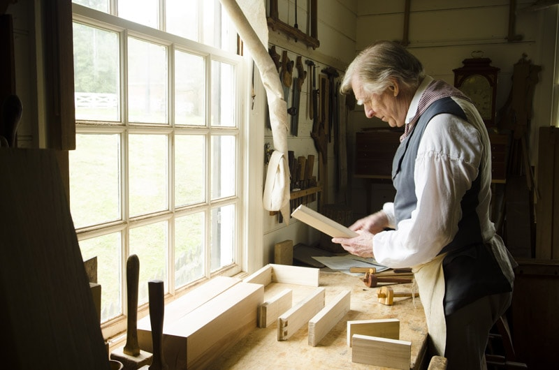 Secret Mitered Dovetails with Kaare Loftheim at Colonial Williamsburg