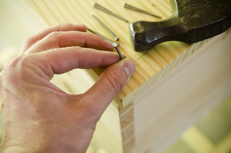 "How to Use Traditional Cut Nails {Part 14 of ""Build a Dovetail Desk with Hand Tools""}"
