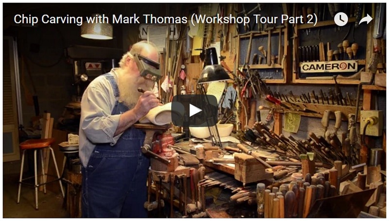 Chip Carving with Mark Thomas (Workshop Tour Part 2)