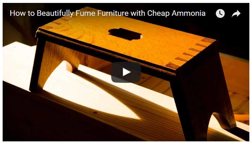 How to Beautifully Fume Furniture with Cheap Ammonia