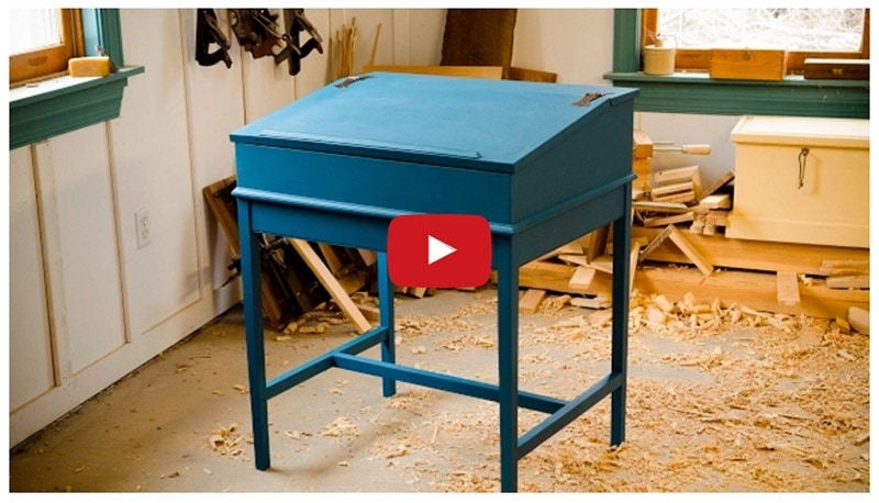 "The Completed Dovetail Desk! {Part 17 of ""Build a Dovetail Desk with Hand Tools""}"