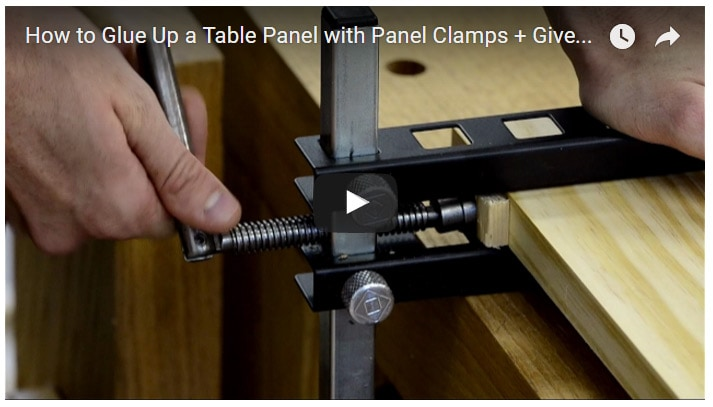 How to Glue Up a Table Panel with Panel Clamps