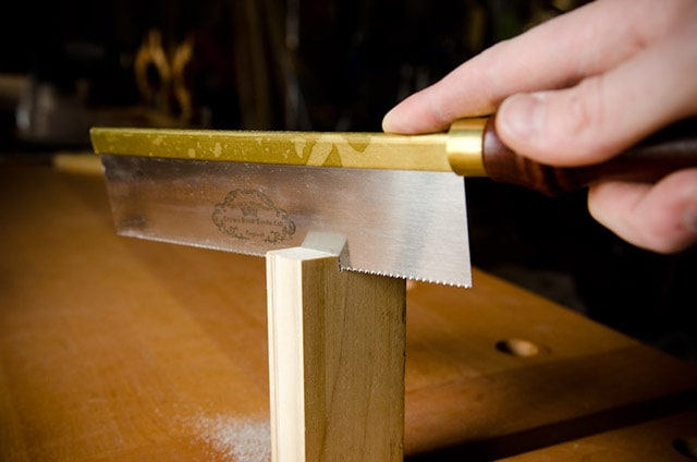 Gents dovetail brass back saw hand saw