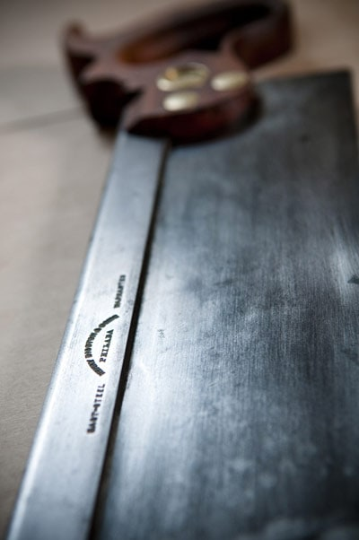 Disston #4 steel back saw