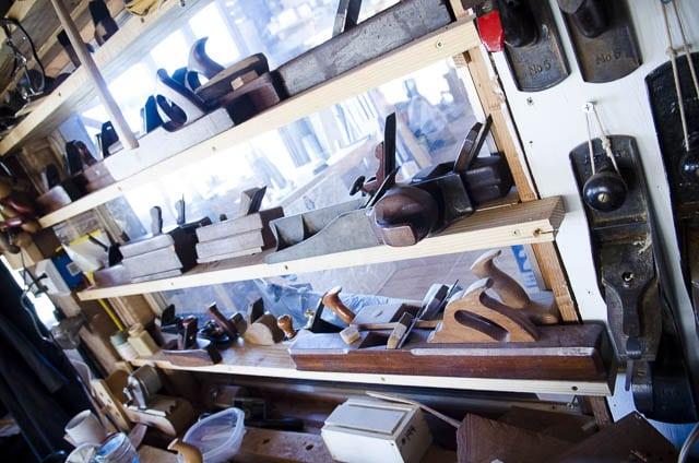 Handplanes At Don Williams Workshop Barn