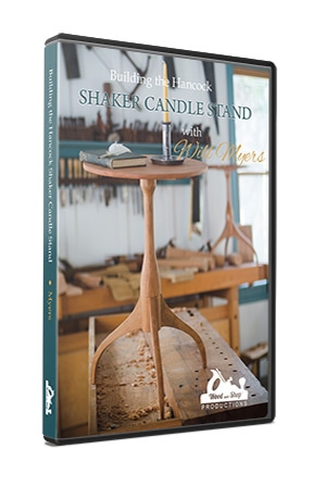 DVD case for Building the Hancock Shaker Candle Stand with Will Myers