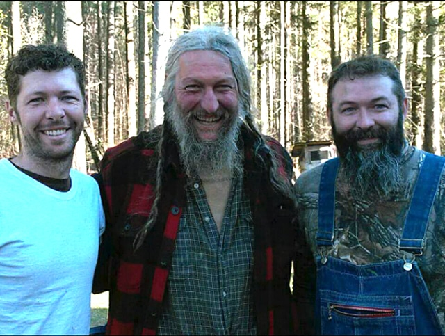 Mountain men Eustace Conway with Ervin Ellis & Willie Ellis