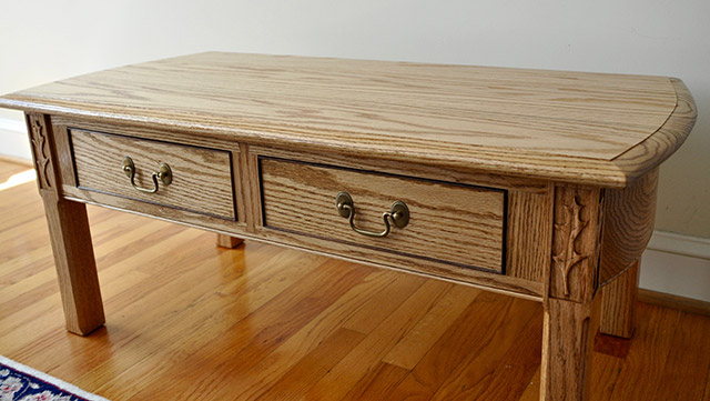 coffee table built by james huggett