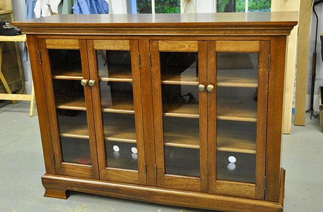 Furniture cabinet built by james huggett