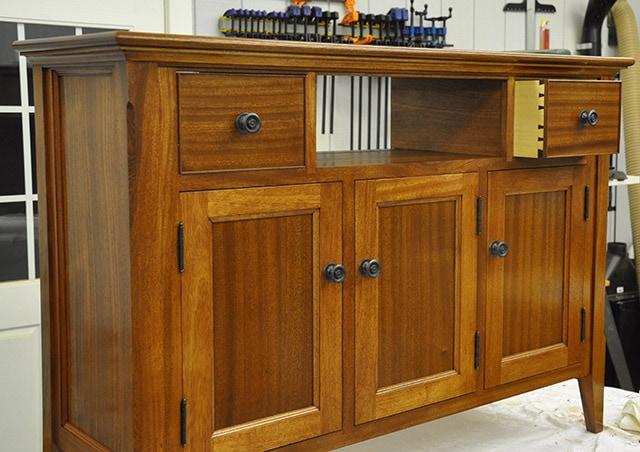 Sideboard table built by james huggett