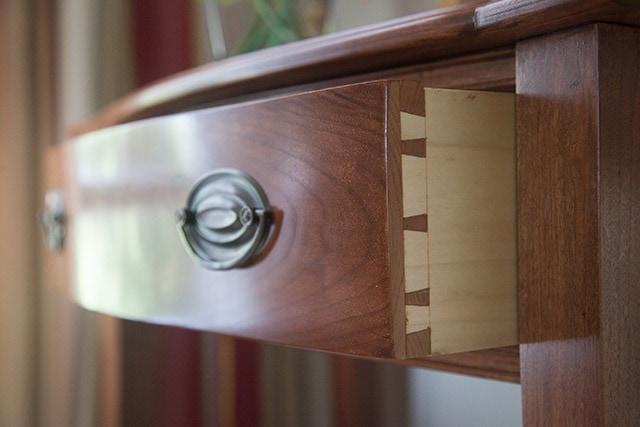 dovetailed drawer built by james huggett
