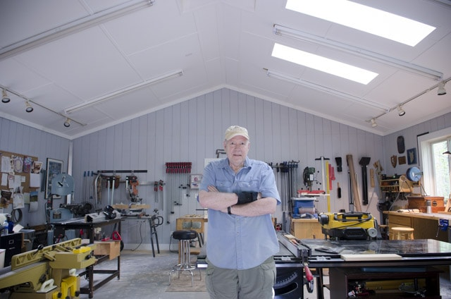 Interior Of James Huggett Custom Furniture Woodworking Workshop With The Perfect Wood Shop Layout
