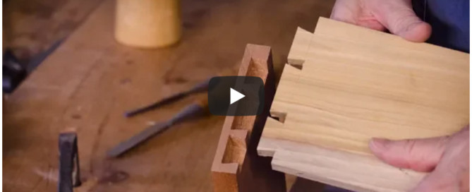 Video How to Make Half-blind dovetails for drawers with James Huggett