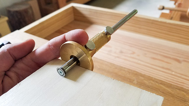 Taytools solid brass wheel woodworking cutting marking gauge laying out dovetails