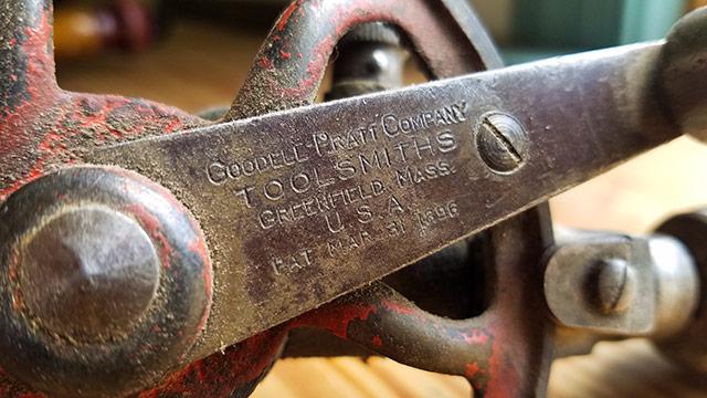 goodell pratt hand drill patent