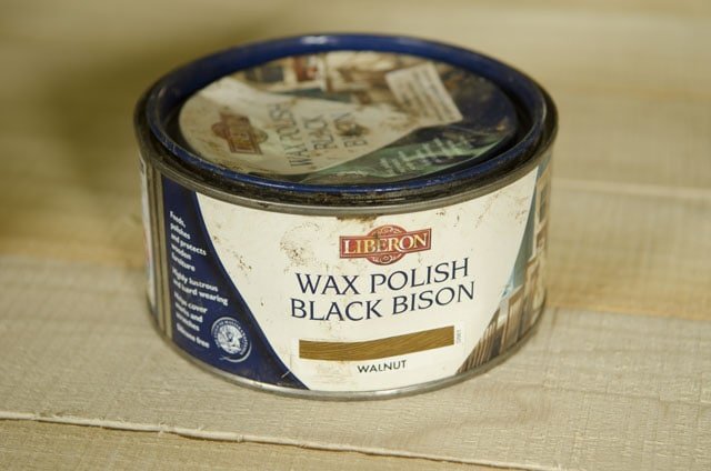 Liberon wax polish black bison walnut can for woodworking