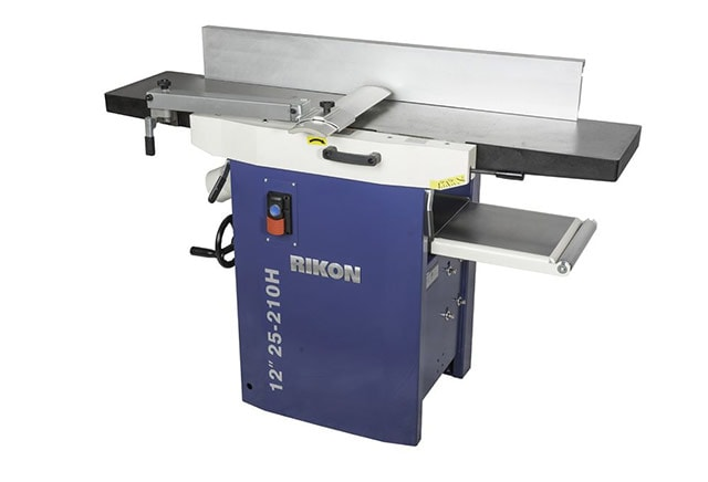 Rikon 12-inch Planer Jointer combo 25-210H with the jointer bed down