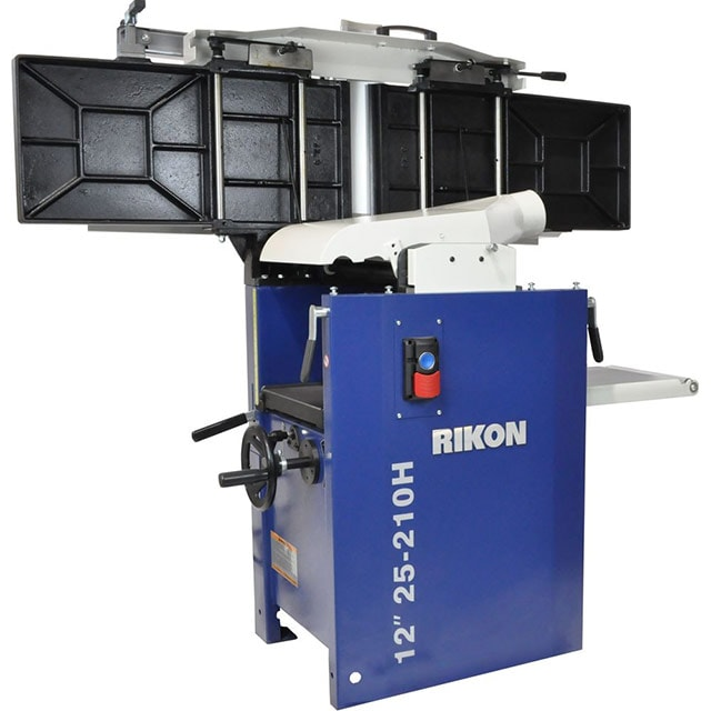 Rikon 12-inch Planer Jointer combo 25-210H with the jointer bed up