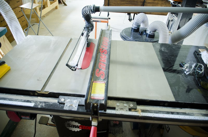 Saw Stop cabinet table saw 3 horse power