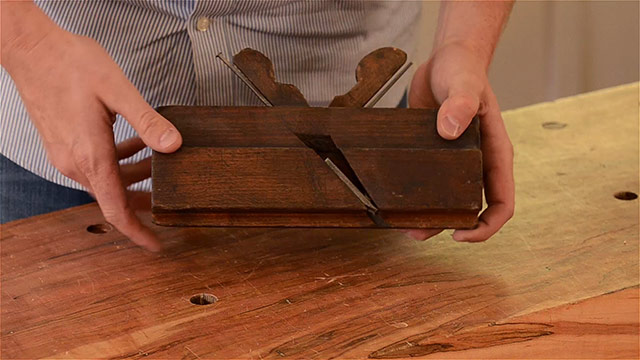 wooden come and go tongue and groove plane
