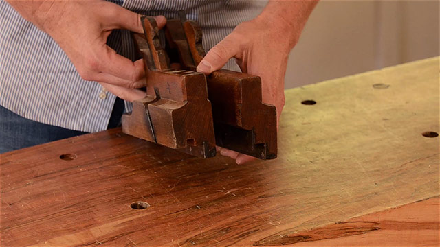 matched pair wooden tongue & groove planes