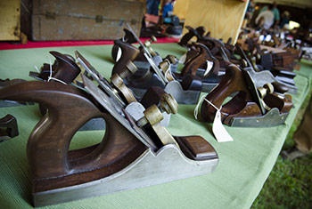 Row of antique scottish infil handplanes for sale