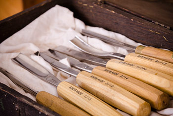 Swiss made pfeil wood carving chisels in a box