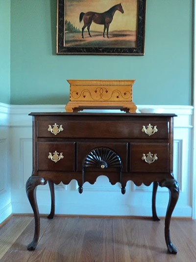 Queen Anne Lowboy made by William Brown