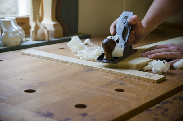 Workbench Planing Stop With A Stanley Handplane