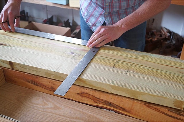 Laying Out Lines On A Board With A Framing Square
