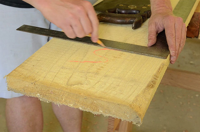Using A Framing Square To Cross Cut Lumber
