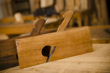 Rabbet Planes Lined Up On A Woodworking Workbench