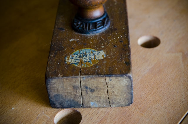 Stanley Transitional Hand Plane With A Split On The Wooden Body