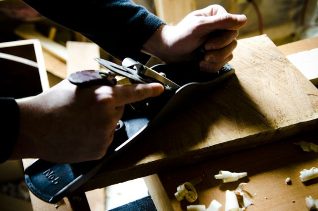 Stanley No. 5 Jack Plane Hand Planing Wood