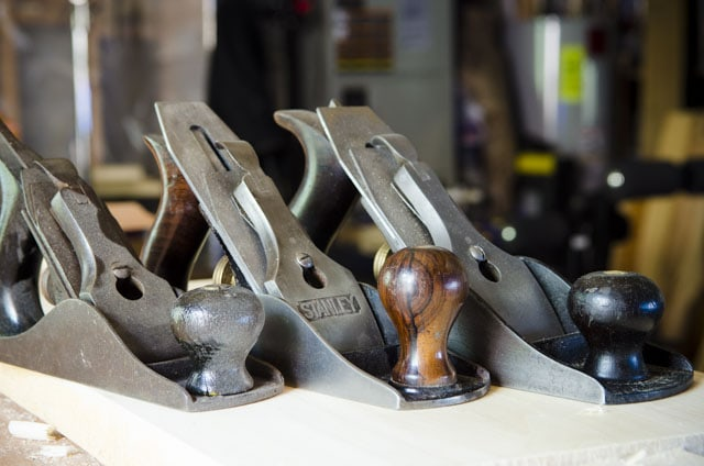 Three Stanley Bailey Smoothing Planes Sitting Side By Side
