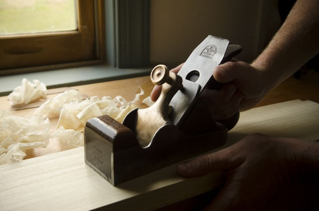 Scottish Infill Plane Or British Infill Smoothing Plane On A Roubo Workbench