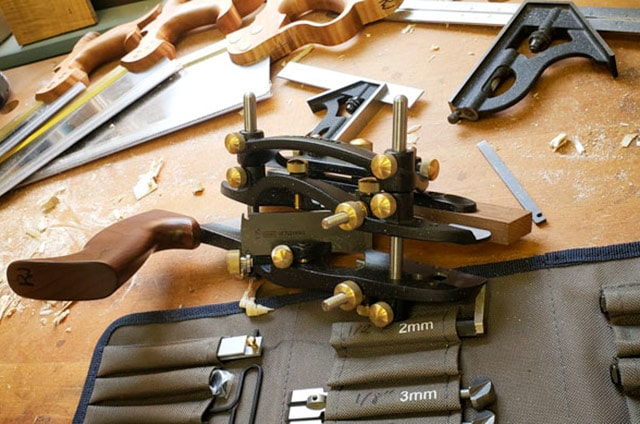 Veritas Combination Plane On A Woodworking Workbench