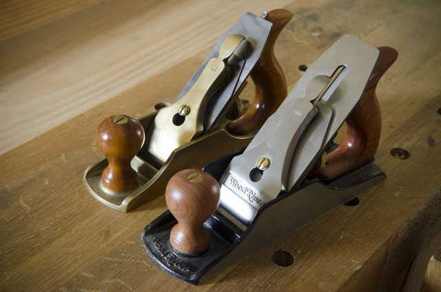 Lie-Nielsen Smoothing Plane Next To A Woodriver 4 1/2 Smoothing Plane