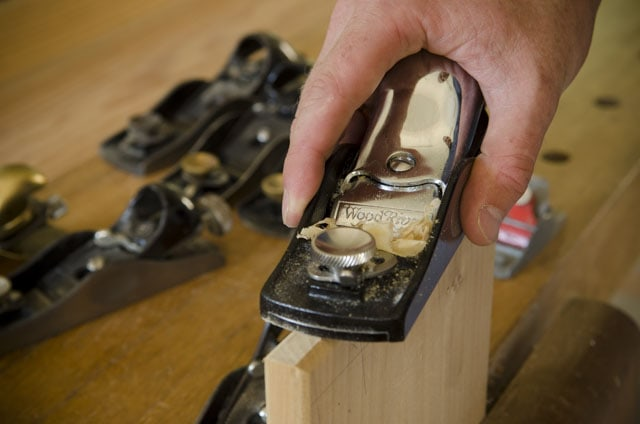 Woodriver Low Angle Block Plane Planing End Grain Of A Board