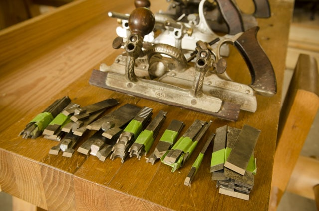 Stanley 45 Combination Plane W/ Array Of Cutters Or Blades